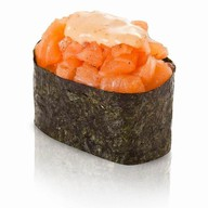 Спайси суши с копченным лососем Фото