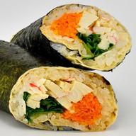 Суши-рап с мясом краба Фото