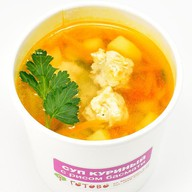 Суп куриный с рисом басмати Фото