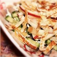 Теплый салат Пока холостяк Фото