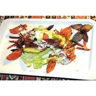 Салат с бастурмой и запеченными томатами Фото