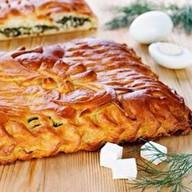 С мясом и картофелем (дрожжевой) Фото