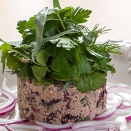 Лобио-холодная закуска из красной фасоли Фото