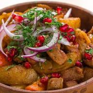 Оджахури свинина обжаренная с картофелем Фото