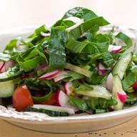 Свежие овощи с хрустящим щавелем Фото