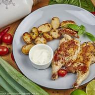 Цыпленок по-милански с картофелем Фото