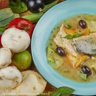 Филе сибаса с овощами под соусом Фото