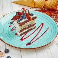 Торт с черникой и сметанным кремом Фото