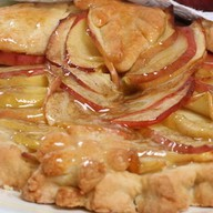 Пирог с яблоками (песочный) Фото