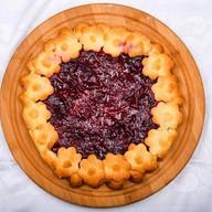 Пирог с яблоками и вишней (песочный) Фото