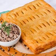 Пирог с мясным фаршем (слоеный) Фото