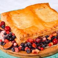 Пирог с фруктовым ассорти (слоеный) Фото