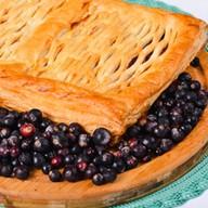 Пирог с черной смородиной (слоеный) Фото