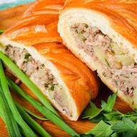 Пирог с мясом (говядина) и картофелем Фото