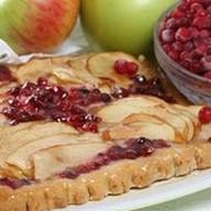 Пирог с яблоками и брусникой (песочный) Фото