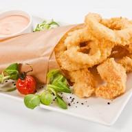 Кольца кальмаро и креветки темпур Фото