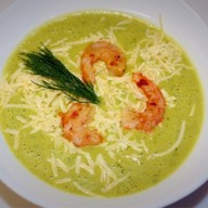 Овощной суп-пюре с креветками Фото