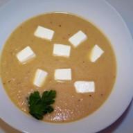 Суп из запеченных баклажанов с кокосовым Фото
