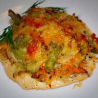 Куриный стейк с овощами Фото