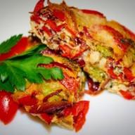 Фриттата с брокколи и красным перцем Фото