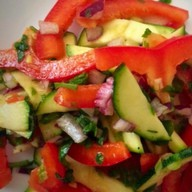 Салат из кабачков с перцем Фото