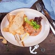 Тар-тар из дикого лосося с каперсами Фото