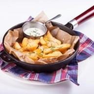 Картофель под сыром с перцем халапеньо Фото
