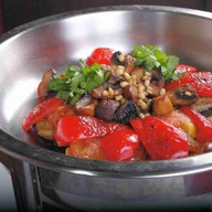 Садж из овощей с грибочками Фото