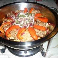 Садж из свинины на косточке Фото