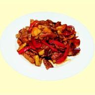 Свинина в соусе терияки с яблокам Фото