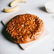 Пирог с бананом дрожжевой Фото