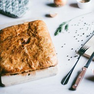 Пирог с горбушей слоеный Фото