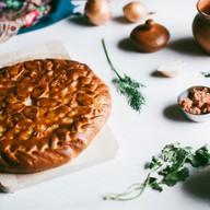 Пирог с мясом дрожжевой Фото