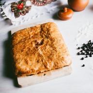 Пирог с черникой слоеный Фото