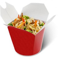 Лапша wok с индейкой в сладком чили Фото