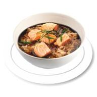 Суп с рисом и лососем Фото