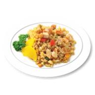 Рис с беконом и яйцом Фото