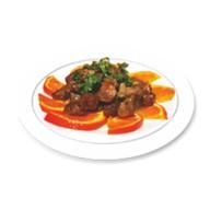 Говядина с тайским соусом и апель Фото