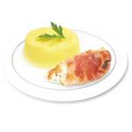 Куриное филе с сыром и беконом Фото