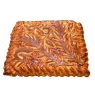 Пирог с мясом и рисом на слоеном тесте Фото
