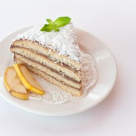 Кусочек бананового кейка Фото