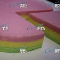 Нежный суфлейный торт 3 вкуса Фото