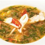 Итальянский куриный суп Фото