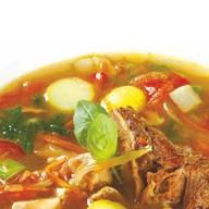 Суп со шпинатом и белыми грибами Фото