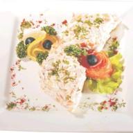Оливье классический с лососем Фото