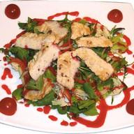 Теплый салат Индейка Фото