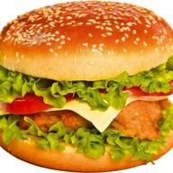 Двойной бургер с курочкой и беконом Фото