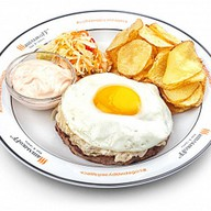 Рубленый стейк с сыром Фото