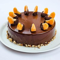 Шоколадно-мандариновый торт Фото