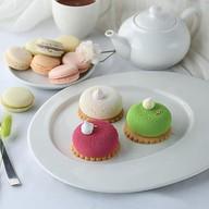 Муссовое пирожное зеленый чай-жасмин Фото